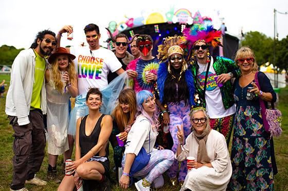 Happy fans at a cashless festival